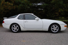 Porsche 968 Coupe White 1993 Passenger Side View