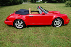 Porsche America Roadster Red 1993 Passenger Side View