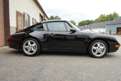 Porsche 993 C 4 Black 1996 Passenger Side View