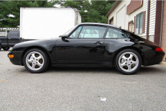 Porsche 993 C 4 Black 1996 Driver Side View