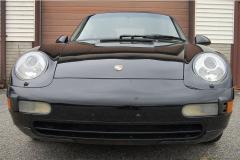 Porsche 993 C 4 Black 1996 Front View