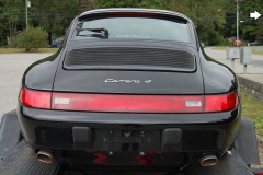 Porsche 993 C 4 Black 1996 Rear View