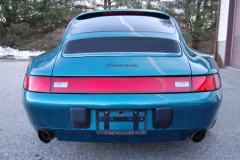 Porsche 993 Coupe Green 1996 Rear View