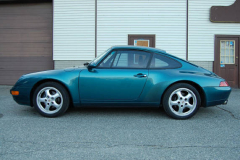 Porsche 993 Coupe Green 1996 Driver Side View