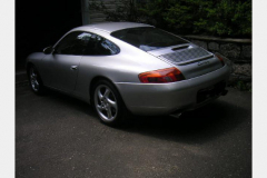 Porsche 996 Coupe Silver 1999 Passenger Side View