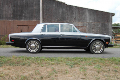 Rolls Royce Silver Shadow Silver Black 1975 Passenger Side View