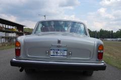 Rolls Royce Silver Shadow Silver Black 1975 Rear View