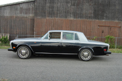 Rolls Royce Silver Shadow Silver Black 1975 Driver Side View