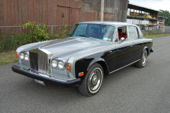 Rolls Royce Silver Shadow Silver Black 1975 Front View