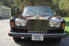 Rolls Royce Silver Shadow Burgundy 1980 Front View