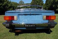 Triumph TR6 Blue 1975 Rear View