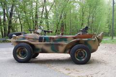 Volkswagon Schwimmwagen Camo 1943 Driver Side View